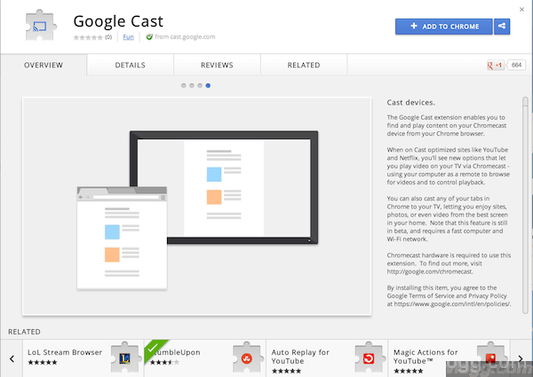 Google Cast - Chrome Extension to broadcast to your cast devices