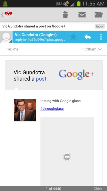 google+ glass app