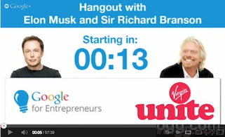 Elon Musk and Richard Branson Hangout Video
