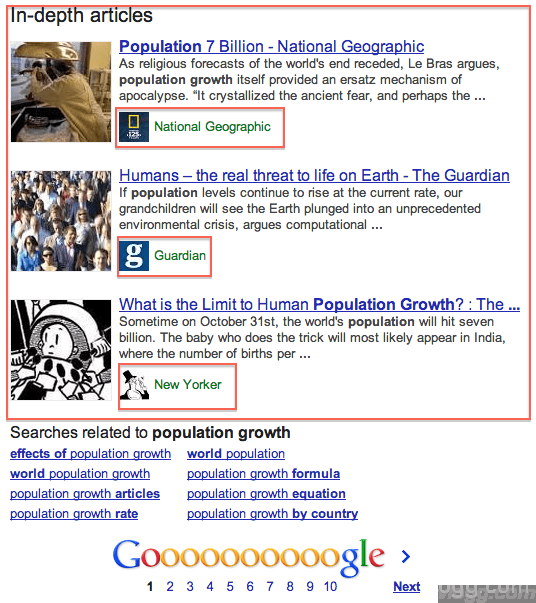 In-Depth Articles in Google Search Results Released