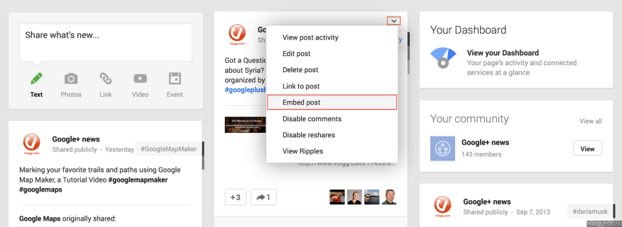 How to Embed Google+ Post?