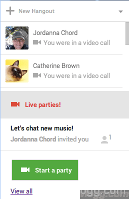 How to discover Live Hangout Parties in Google Plus? [Image: Google+]