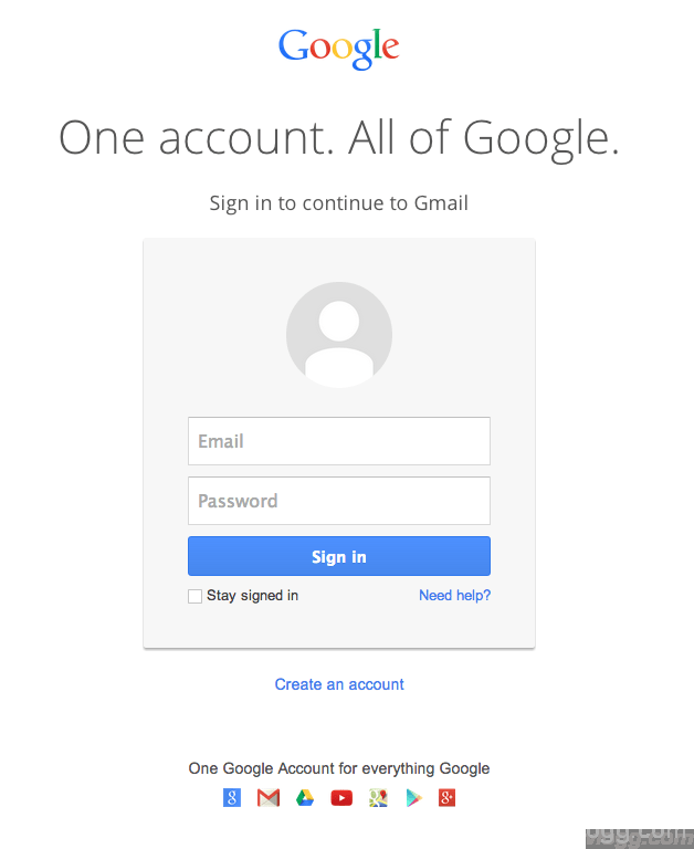 Brand New Google Account SignIn Page