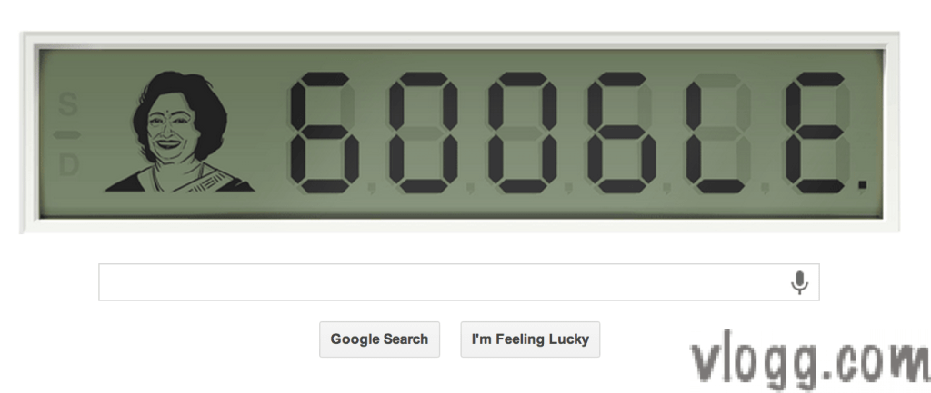 Digital Google Doodle Today Honoring 'Human Computer'