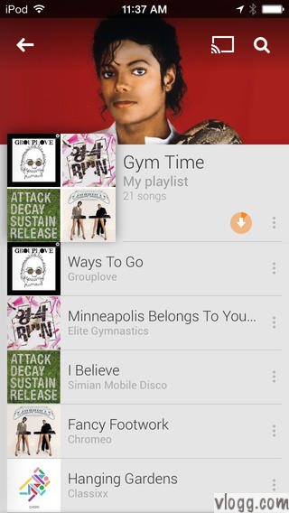Google Play Music App for your ipad, iphone ipod devices [images: app store]