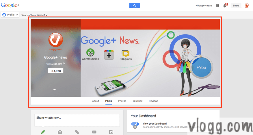 Google+ Cover Photo and New Profile Look after the Cover Photo Update Today