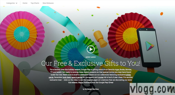 Google Play Store Offers and Free Gifts for Holiday Season 2013 [Images: vlogg.com]