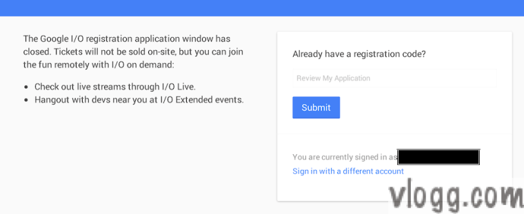 Google I/O 2014 Registration Closed