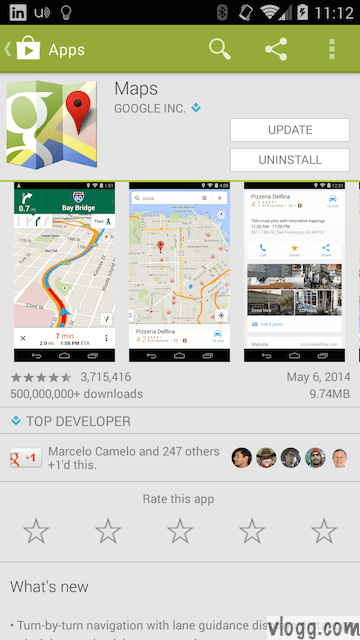 Google Maps for Android ver 8.0.0 with Offline Maps and Uber Support Released [images: vlogg.com]