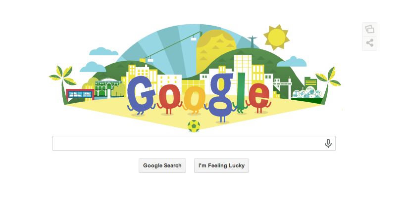 Google Doodle Today Honors Soccer World Cup 2014 in Brazil
