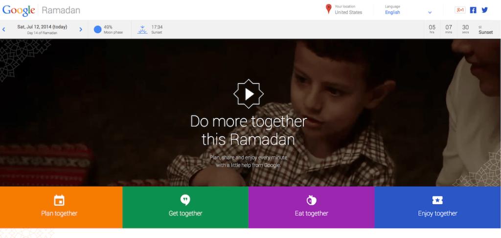 Google Ramadan: One Place to Plan, Share & Enjoy Ramadan