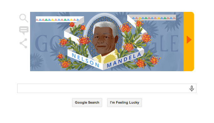 Nelson Mandela Google Doodle on His Birth Anniversary Today