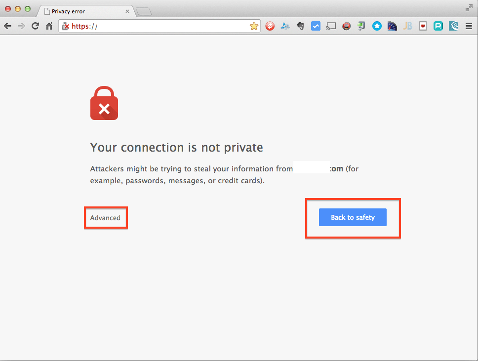 Google Chrome Updates Privacy Error Invalid Ssl Certificates