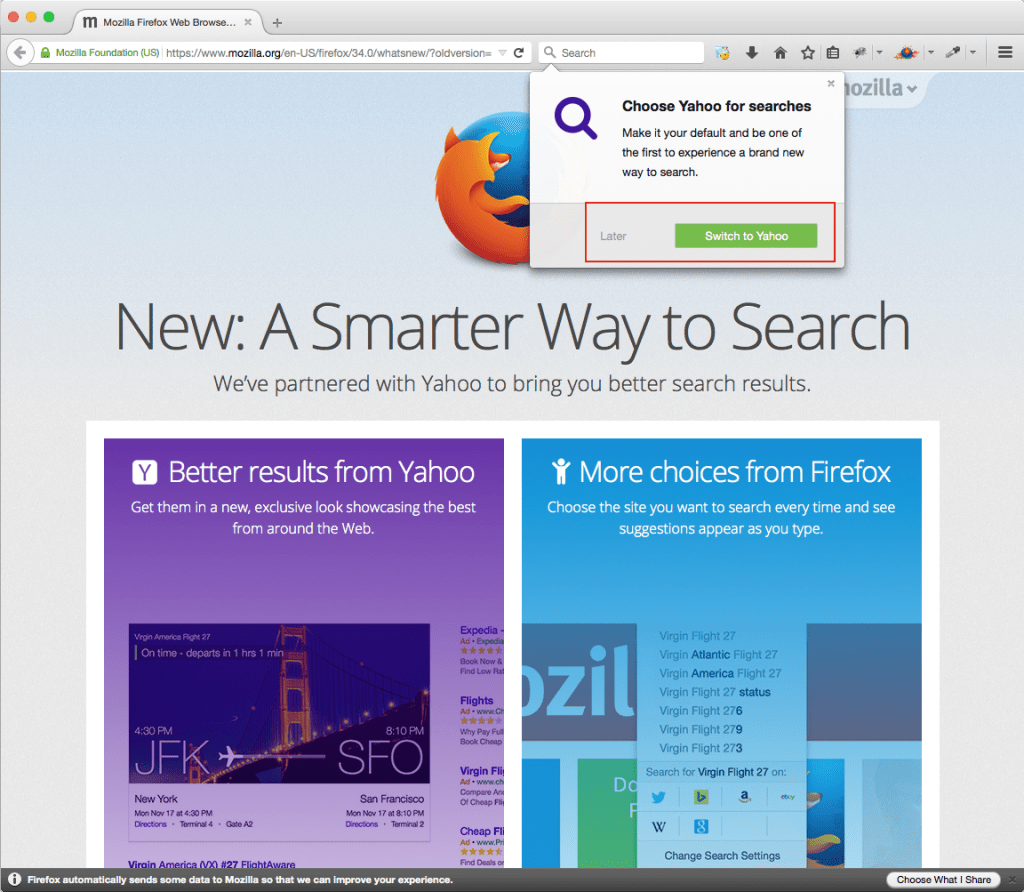 How to Switch to Google Search After Firefox Yahoo Update?