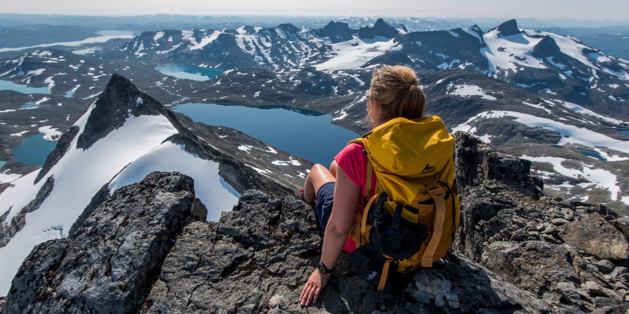 On top of peak Uranostind in Jotunheimen – Yngve Ask