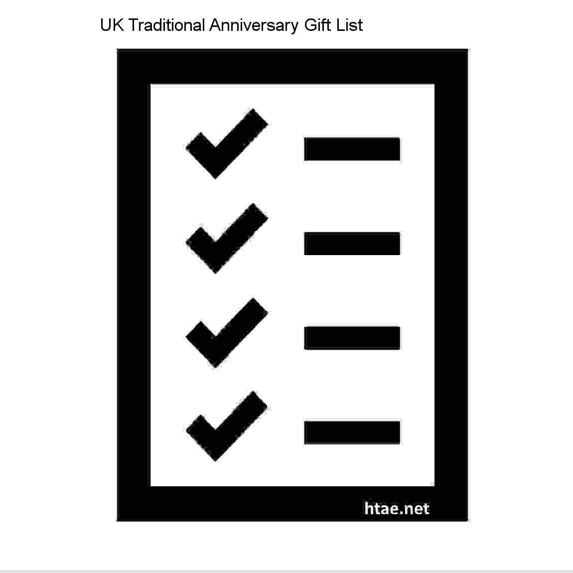 uk traditional anniversary gift