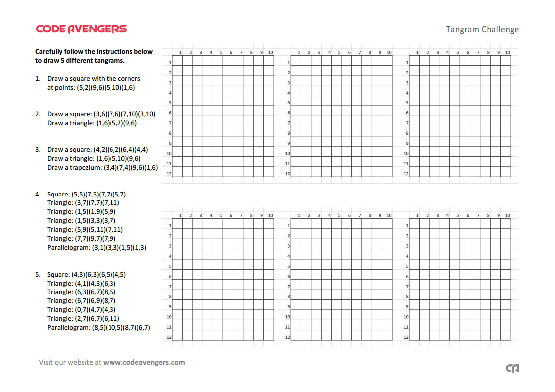 Tangrams Worksheet