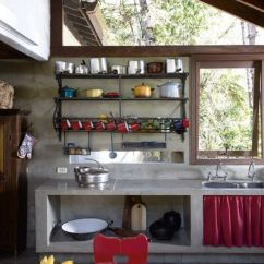 Cement Kitchen Sink Remodels Under 5000 廚房水泥粉光枱面的做法 Courcasa 小院