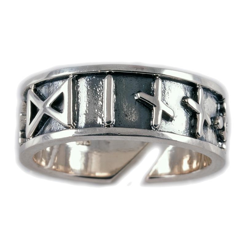 Wikinger Runen Ring Silber Gross VCVR33  Dragonheart