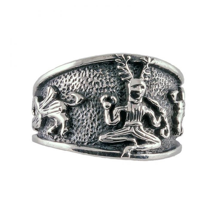 Keltischer Ring Silber Gross  Dragonheart