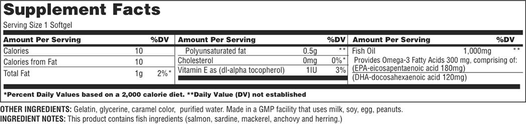 Resultado de imagen para universal fish oil