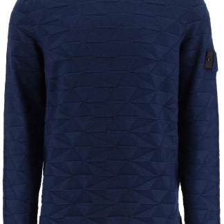 STONE ISLAND SHADOW PROJECT CREW-NECK SWEATER S Blue Cotton