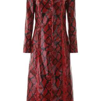 STAND PYTHON PRINT MIA COAT 36 Red, Black