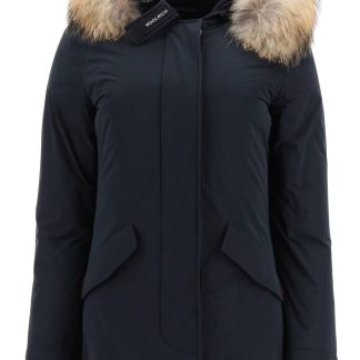 WOOLRICH LUXURY ARCTIC PARKA WITH MURMASKY FUR XS Blue Technical, Fur