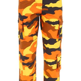 OFF-WHITE CAMOUFLAGE CARGO PANTS 38 Orange, Yellow, Black Cotton