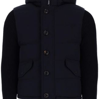 MooRER FOSCOLO-KNM JACKET 46 Blue Technical, Wool