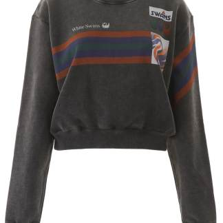 OFF-WHITE PRINTED SWEATSHIRT L Black, Grey, Orange Cotton
