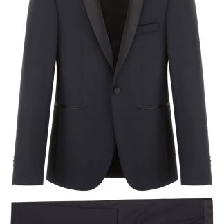 TAGLIATORE TWO-PIECE SUIT 48 Black Wool
