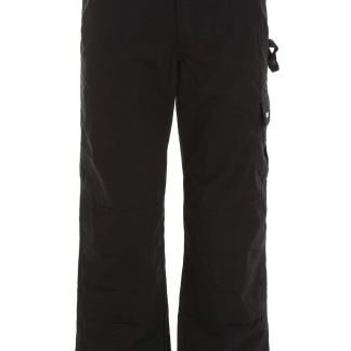 MSGM NYLON CARGO TROUSERS 46 Black Technical