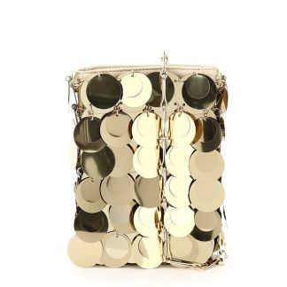 PACO RABANNE ICONIC 1969 SPARKLE MINI BAG OS Gold Faux leather