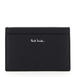 PAUL SMITH BRIGHT STRIPE MULTICOLOUR CARD HOLDER OS Black, Red, Grey Leather