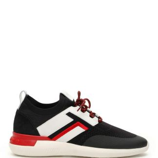 TOD'S NO CODE 02 SNEAKERS 6 Black, White, Red Technical, Leather