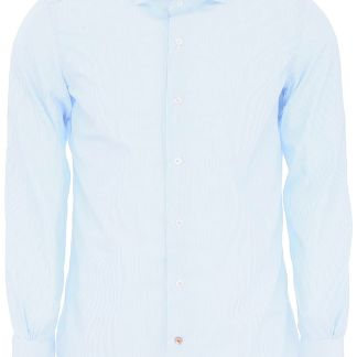 MAZZARELLI STRIPED SHIRT 39 Light blue, White Cotton