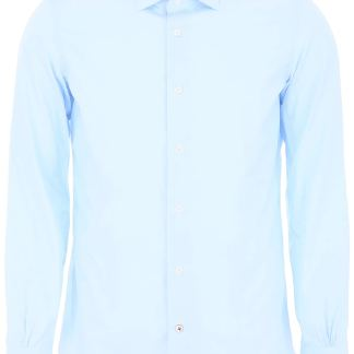 MAZZARELLI CELESTE SHIRT 39 Light blue Cotton