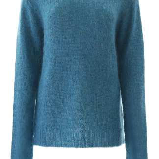ROKH MOHAIR PULL M Blue Wool
