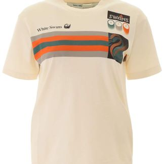 OFF-WHITE OLYMPIC PRINT T-SHIRT S Beige, Orange, Green Cotton