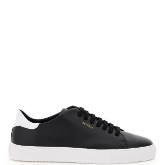 AXEL ARIGATO CLEAN 90 LEATHER SNEAKERS 40 Black, White Leather