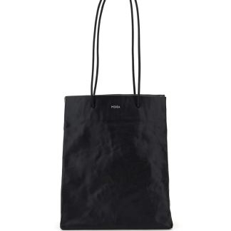 MEDEA TALL BUSTED BAG OS Black Leather