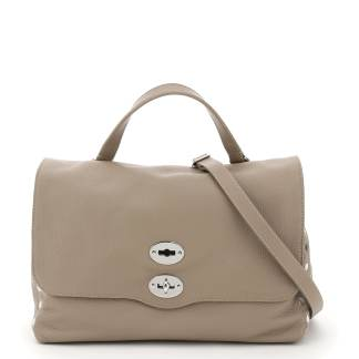 ZANELLATO DAILY POSTINA M BAG OS Grey, Beige Leather