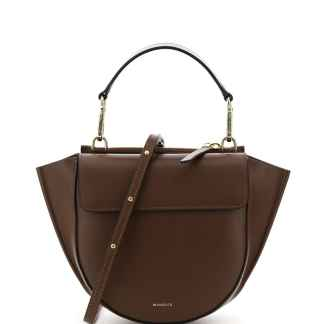 WANDLER HORTENSIA MINI LEATHER BAG OS Brown Leather