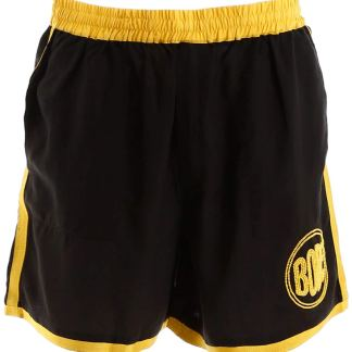 BODE SHORTS WITH LOGO EMBROIDERY S/M Black, Yellow