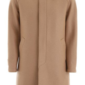 HARRIS WHARF LONDON REGULAR COAT 50 Beige Wool