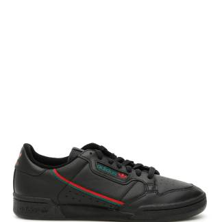 ADIDAS CONTINENTAL 80 SNEAKERS 6,5 Black Leather, Technical