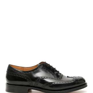 CHURCH'S BURWOOD LACE-UPS 9 Black Leather