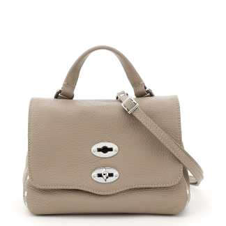 ZANELLATO DAILY POSTINA BABY BAG OS Grey, Beige Leather