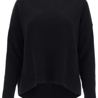 WEEKEND MAX MARA ALPE WOOL SWEATER S Black Wool